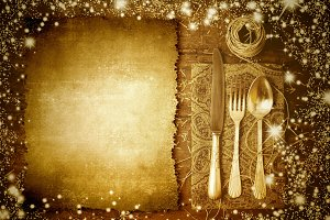 Vintage festive menu background