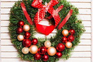 Christmas holiday wreath