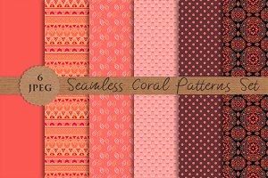 CORAL seamless patterns set