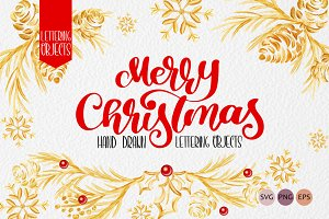 Christmas Draw Lettering Objects