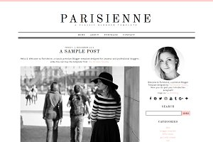 Parisienne - Blogger Template