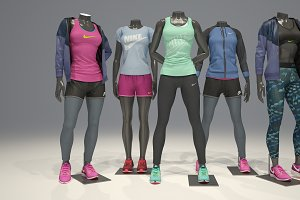 Female mannequin Nike pack 1