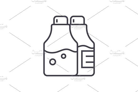 salt and pepper,seasoning vector line icon, sign, illustration on background, editable strokes