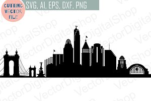 Cincinnati SVG, Ohio City Vector