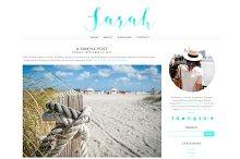 Sarah - Blogger Template/Blog Design