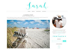 Sarah - Blogger Template/Blog Design