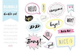 Bubble doodle set