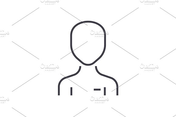 Simple User Vector Line Icon Sign Illustration On Background Editable Strokes