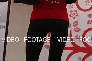 Massage of the buttocks on the vibratory massager