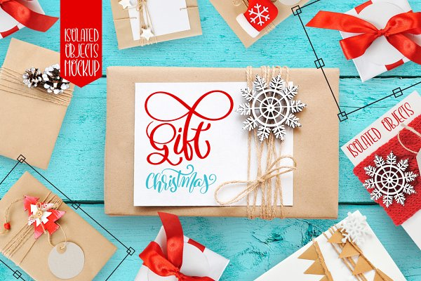 Isolated Gift Christmas Mock ups