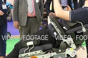 Modern wheelchair for disabled people