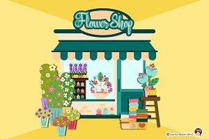 Digital Clipart Flower Shop