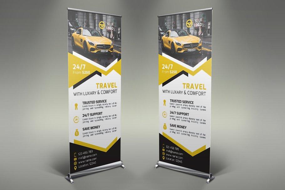 Rent A Car Roll Up Banner Creative Photoshop Templates Creative Market