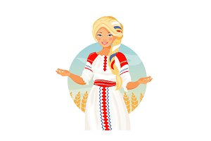 Russian woman vector