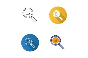 Bitcoin research icon