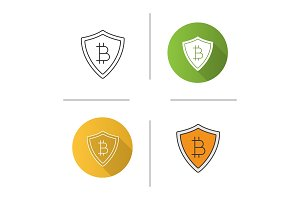 Safe bitcoin payments icon
