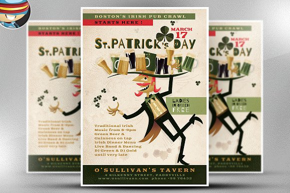 Illustrated St. Patrick's Day Flyer - Flyers