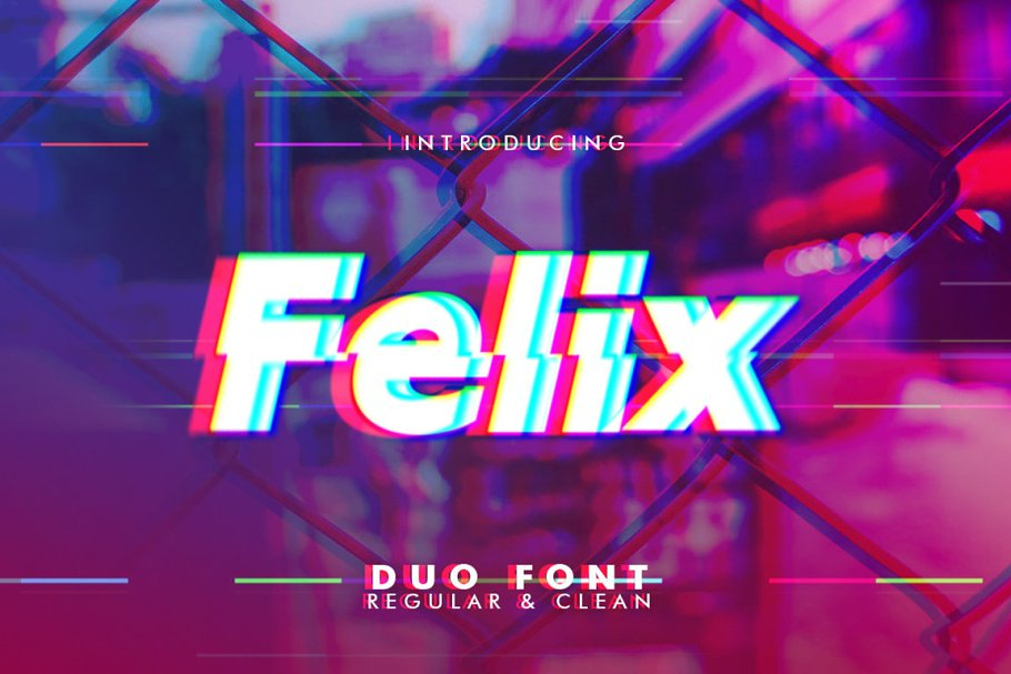 Felix Glitch Duo Font ~ Display Fonts ~ Creative Market