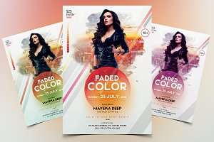 Faded Color - Event Flyer Template