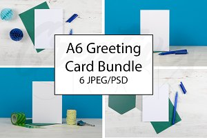 A6 Blue Greeting Card Bundle