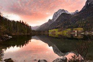 Alpine lake Hintersee, Germany