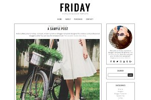 Friday - Pre-made Blogger Template