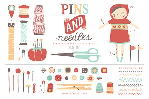 Pins & Needles (Clipart)