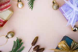 gift box christmas decor background