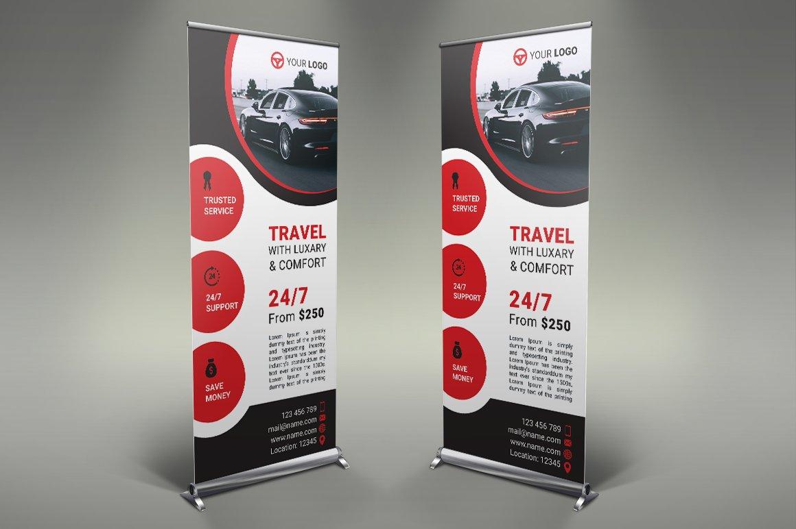 Rent a Car Roll Up Banner ~ Flyer Templates ~ Creative Market