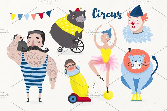 Vintage Circus set