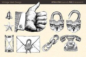 Vintage Style Web Elements