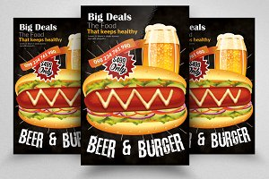 Beer & Burger Flyer Template