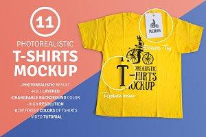 11 Photorealistic T-Shirt Mockup