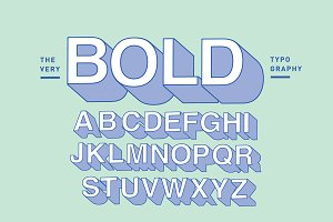 bold typography design vector