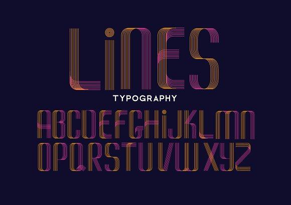 lines typography design vector