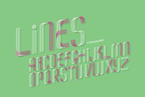 lines typography design vector