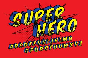comic typography design vector