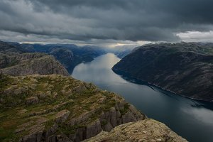 View of Lysefjord from Preikestolen