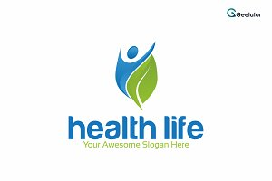 Health Life Logo Template