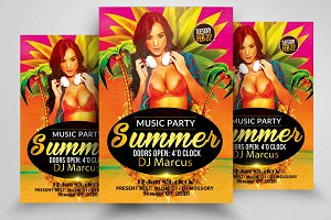 Summer Beach Party Flyer