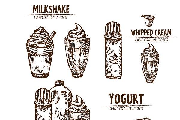 Bundle Of 10 Yogurt Milk Shake Cream Pre Designed Illustrator Graphics Creative Market,Cooking Chestnuts On Open Fire