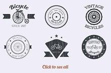 Vintage logo set. Vector.