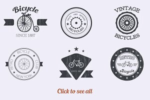 Vintage logo set. Vector.