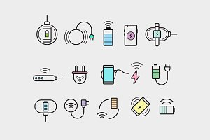 15 Wireless Charging Icons