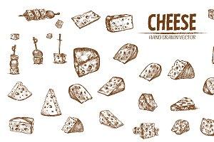 Bundle of 20 cheese vector set 4