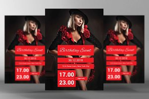 Birthday Event Flyer