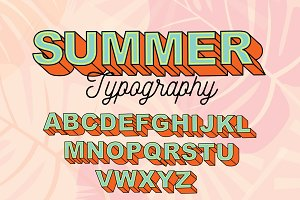 summer typography design vector