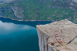 Alone on the Pulpit Rock
