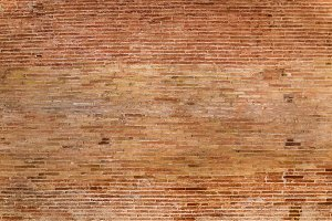 Empty and bare bricks wall
