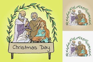 Christmas card, Jesus born